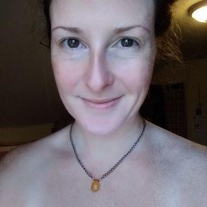 Orange Chalcedony Necklace